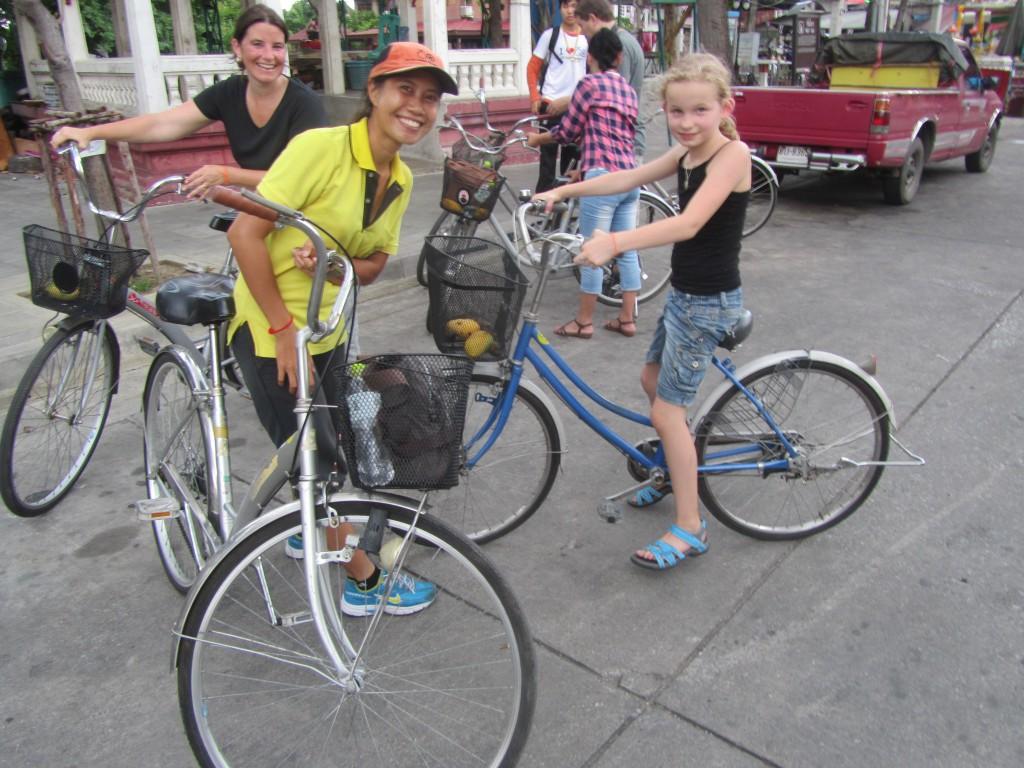 fietstocht in Bangkok