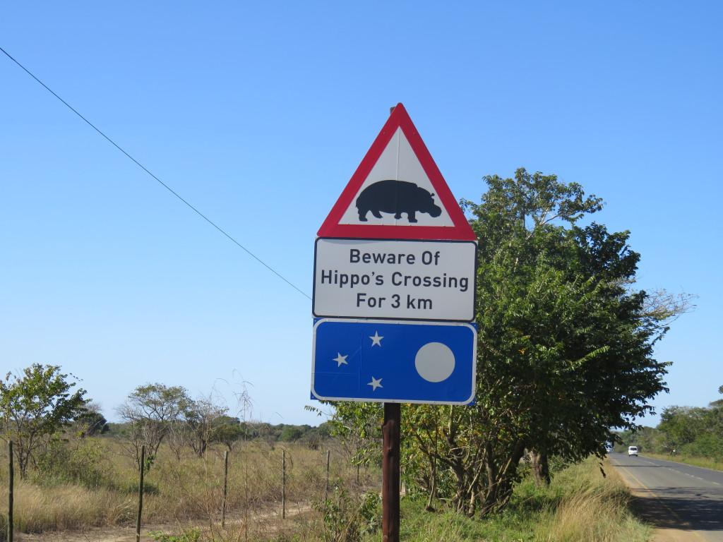 Verkeersborden hippo's
