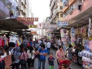 Hong Kong straatbeeld