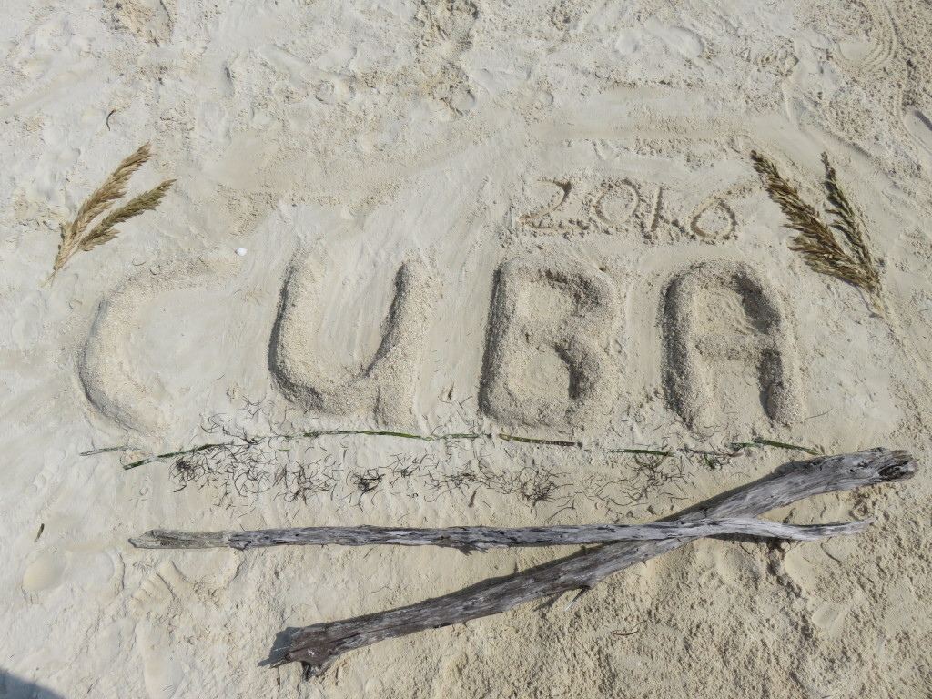 Cuba in zand