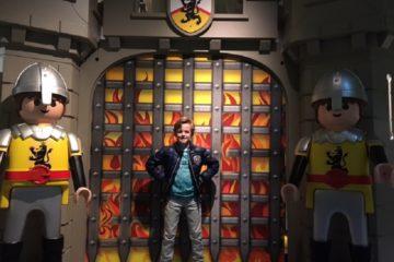Playmobil ridders aan de poort