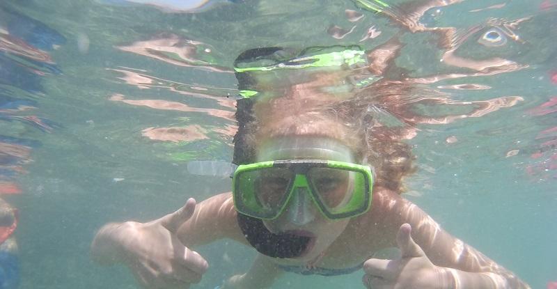Snorkelen met kinderen Nora