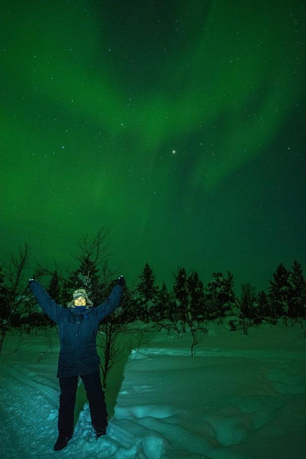 Noorderlicht in Zweeds Lapland Gaby