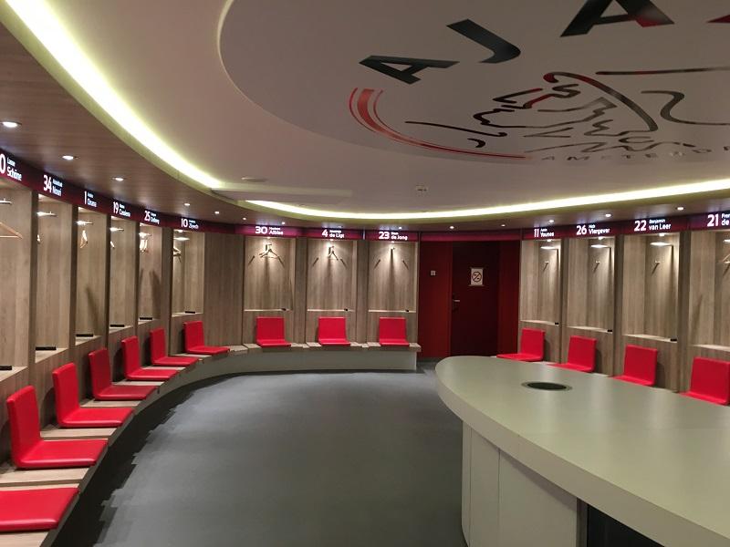 De kleedkamer van Ajax