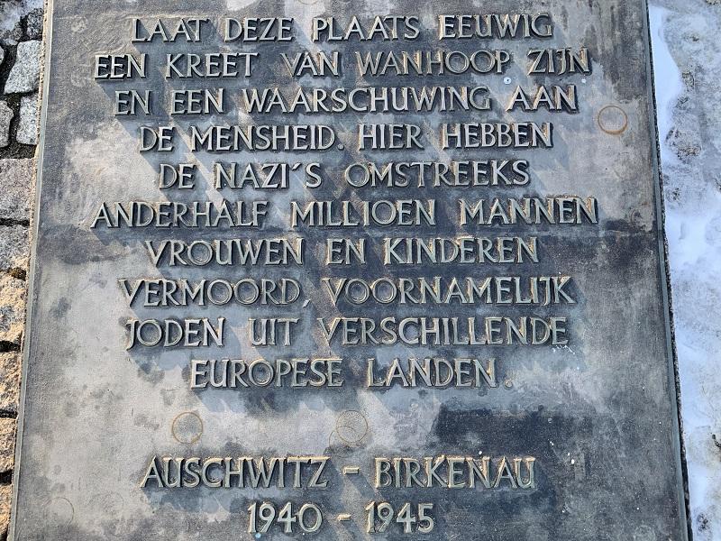 Birkenau monument NL